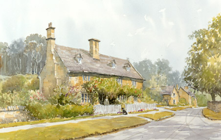 Buckland - a watercolour by John Davis